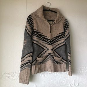 Aritzia TNA Wool Zip Up Sweater